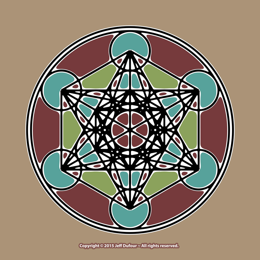 Metatron''s Cube in color