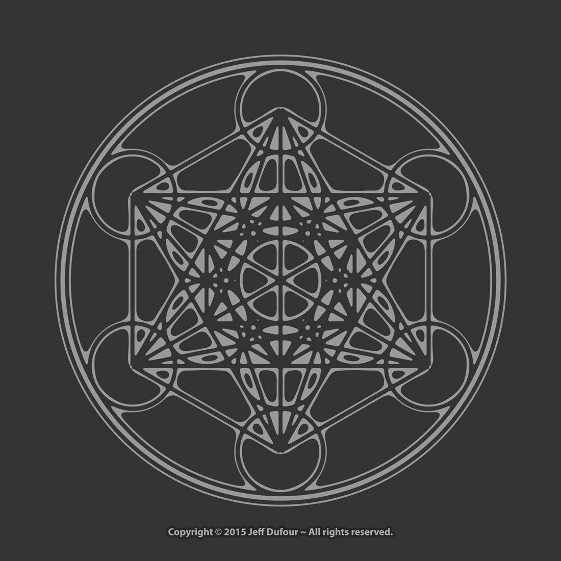 Metatron's Cube in grey