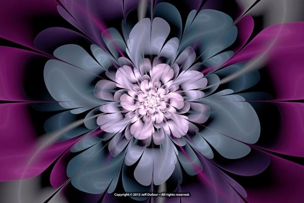 Purple Floractal Bloom